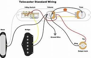 Tele Standard Wiring Template  With Images