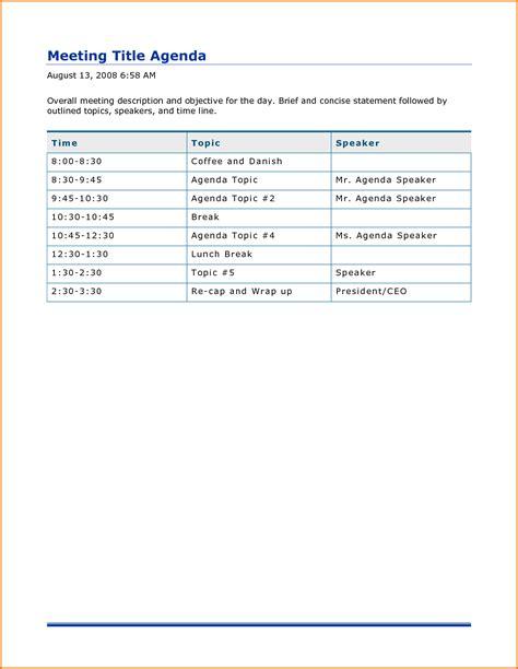 Agenda Template 5 Word Agenda Template Divorce Document