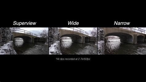 gopro black fov settings superview wide narrow