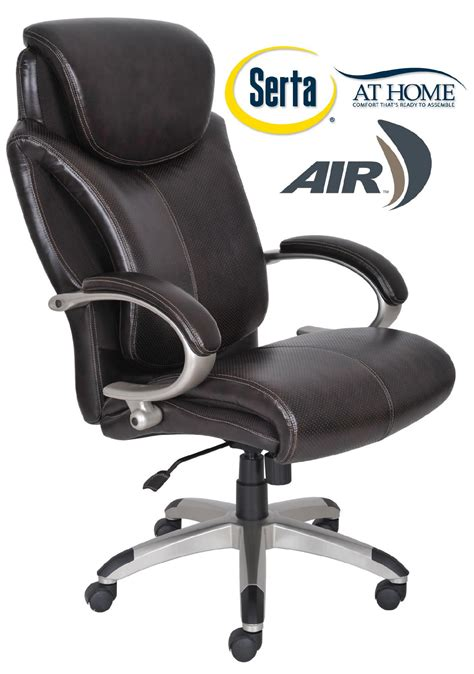 serta big and executive chair manual serta air health wellness big executive office