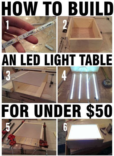 diy led light table how to build an led light table with wood led strips