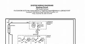 V Manual  1997 Buick Century System Wiring Diagram Starting Circuit