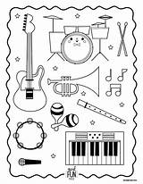 Coloring Instruments Musical Instrument Printable Orchestra Worksheets Nod Kindergarten Preschool Class Kiddos Lds Xylophone Themed Lessons Primary Musik Activities Getcolorings sketch template