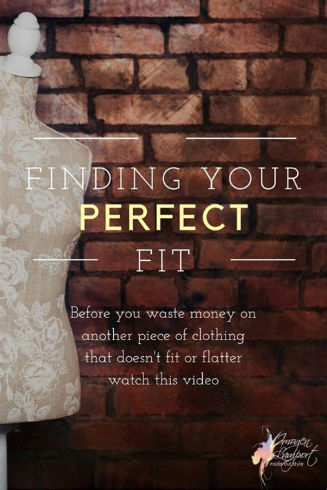 find  perfect fit   style