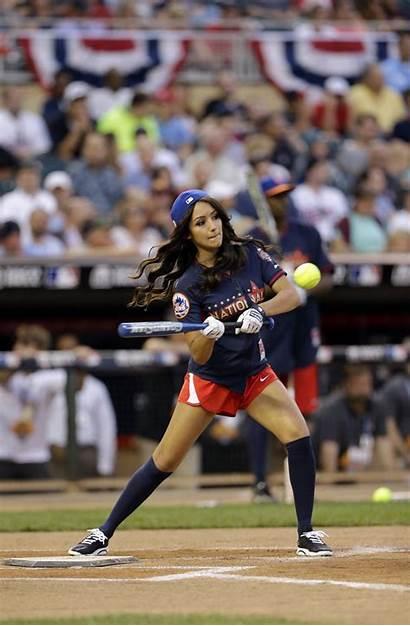 Softball Mlb Celebrity Star Melanie Legends Iglesias