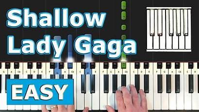 Piano Easy Shallow Sheet Loud Tutorial Gaga