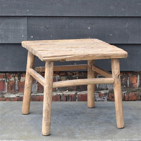 Table Or Table by Reclaimed Rustic Square Elm Coffee Or Side Table