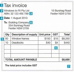 Free Australian Tax Invoice Template Tax Invoice Template Australia Invoice Example