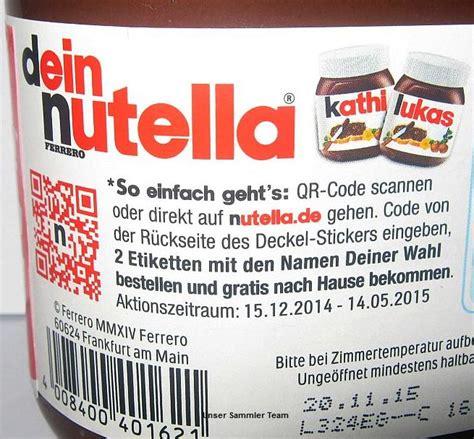dein nutella hol dir deine etiketten