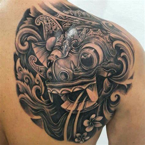 balinese barong mask tattoo paudytattoos balinese