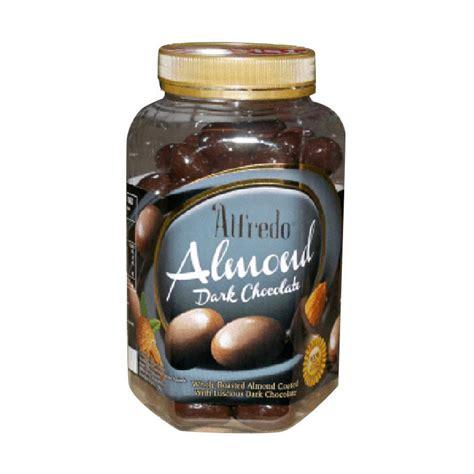 alfredo almond dark bogor coklat snack