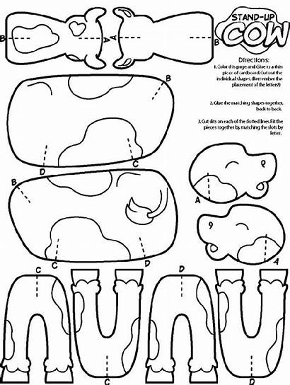 Cow Coloring Crayola Pages Animal Cut Craft