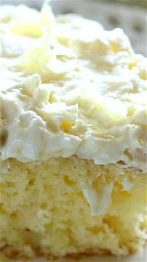 crushed pineapple cake  pineapple frosting
