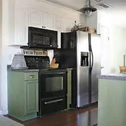 Farmhouse Kitchen with Black Appliances