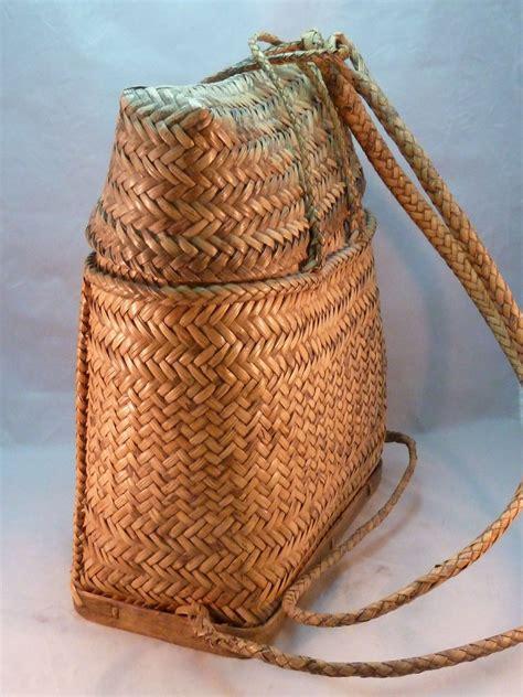 ifguao philippines rattan backpack sangi pasiking vintage