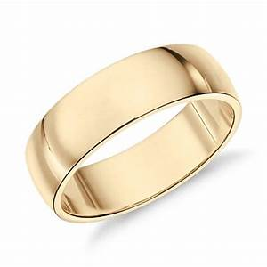 mid weight comfort fit wedding band in 14k yellow gold With classic gold wedding rings