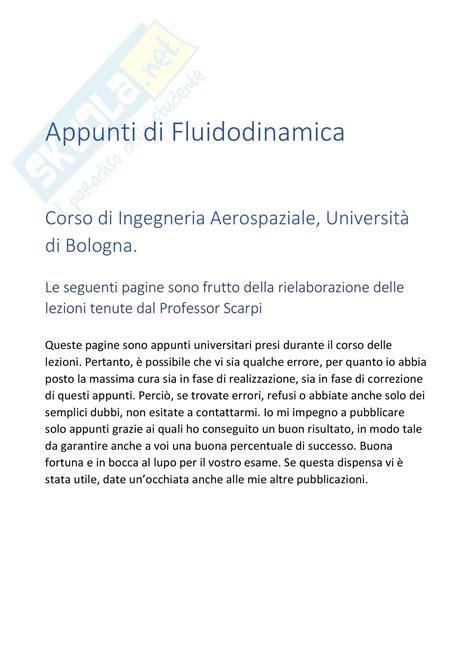 fluidodinamica dispense diagrammi di volo esempi dispense