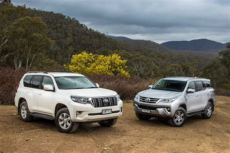 toyota prado  toyota fortuner  comparison review
