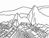 Machu Picchu Coloring Dibujo Colorear Dibujos Pintar Colorir Transparent Peru Maravillas Pichu Mundo Imagui Dibujar Dibuixos Coloriage Colorare Rex Draw sketch template