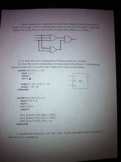 Write Verilog Code Implement The Circuit Below
