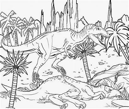 Jurassic Coloring Pages Park Dinosaur Raptor Printable