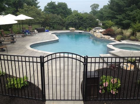 ideas for pool fencing patio ideas archive landscaping company nj pa custom pools walkways patios fence