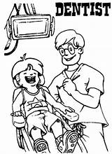 Coloring Pages Dentist Patient Clinic Dental Kid Health Treating Dentists Coloringpagesfortoddlers Need Teeth Brush Education sketch template