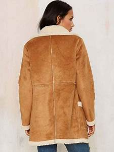 Brown Beige Single Breasted Fleece Lining Women Suede Jackets