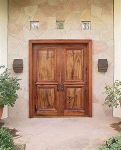 Elegant Mesquite Entry Doors - WGH Woodworking
