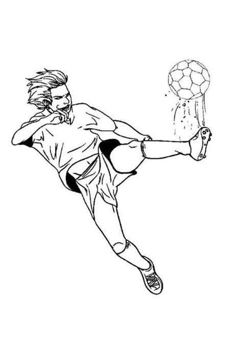soccer player coloring pages    print