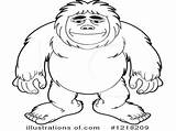 Bigfoot Coloring Drawing Sasquatch Clipart Finding Template Library Getdrawings Sketch sketch template