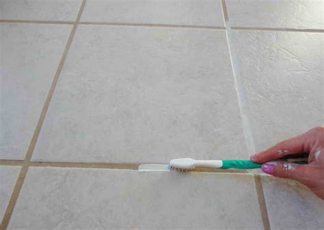 how to clean floor tile grout