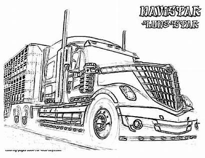 Coloring Semi Truck Pages Trucks Dessin Boys