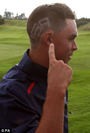 rickie fowler shaves usa into his hair for the 2014