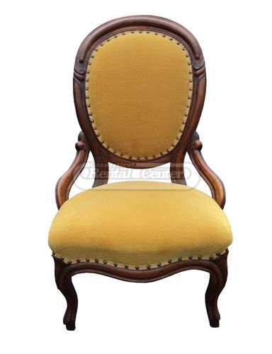 rent vintage gold velvet accent chair from ct rental center