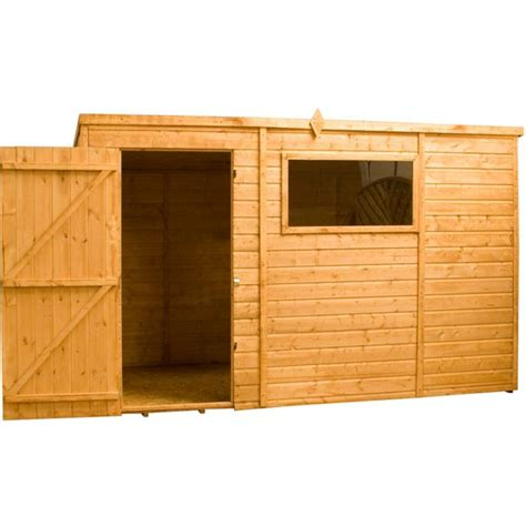 buy mercia shiplap wooden pent shed 12 x 8ft at argos co