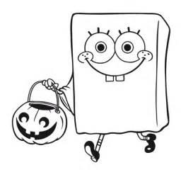 Spongebob Halloween Coloring Pages