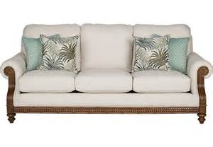 cindy crawford home coconut bay ivory sofa sofas beige