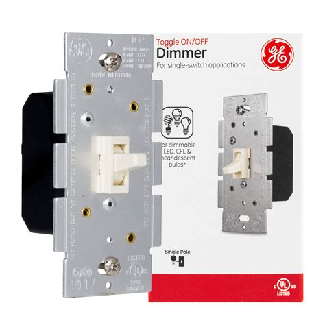 ge light switch dimmer single pole toggle dimmer onoff