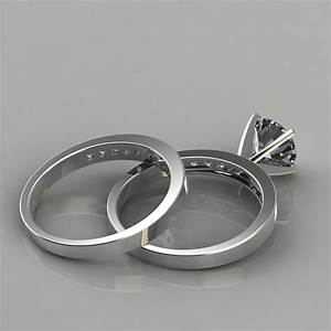 Engagement ring and wedding band bridal set puregemsjewels for Wedding ring descriptions