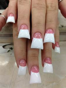 Duck Feet Nails White Tips Purple | Rachael Edwards