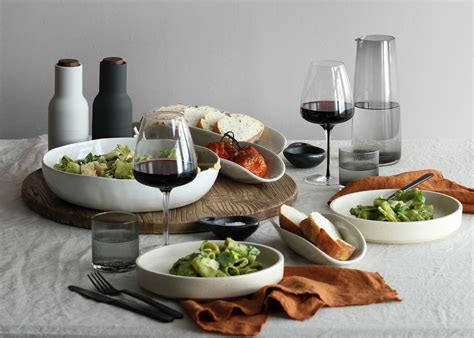 dining table fine setting pasta pesto rigatoni fresh gemmagray gemma