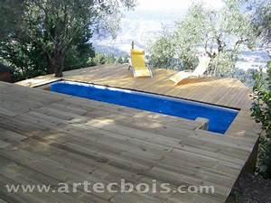 terrasse en bois autour d une piscine hors sol evtod With terrasse en bois autour d une piscine hors sol