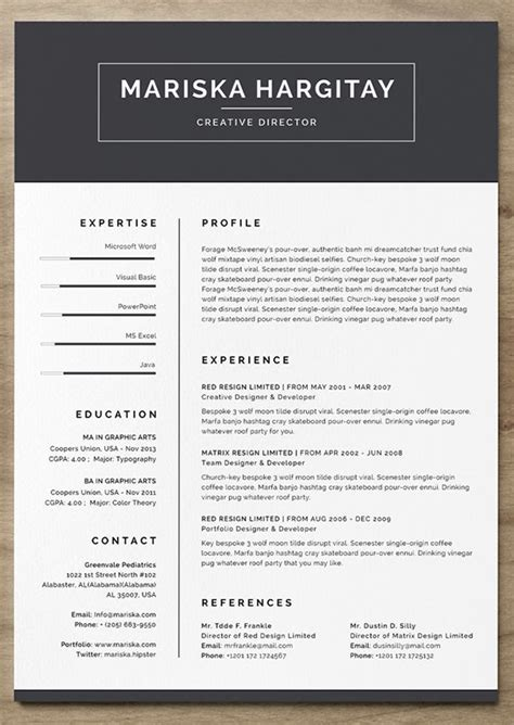 resume templates    land  job