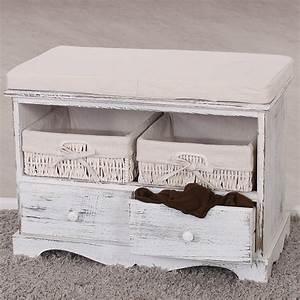 Garderobe Vintage Weiß : sitzbank kommode mit 2 k rben garderobe shabby look vintage wei braun grau ebay ~ Sanjose-hotels-ca.com Haus und Dekorationen