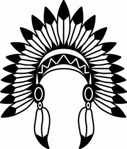 Indian Headdress svg - Indian Headdress vector - Indian ...