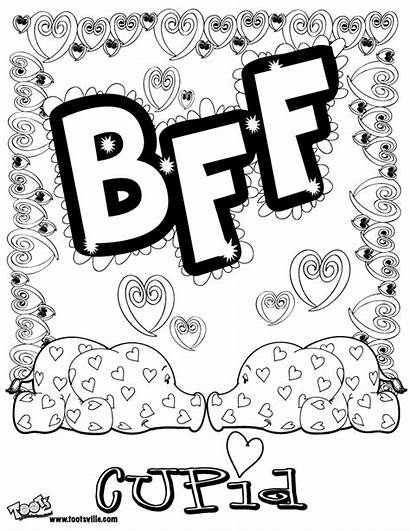Bff Coloring Pages Printable Sheets Friends Friend