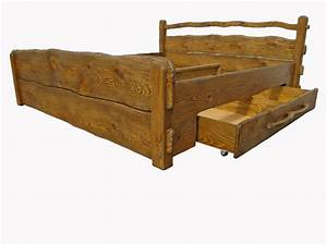 Massivholzbett Mit Stauraum : massivholzbett mit schublade bett aus massivholz rustikal kiefer lo 2 ~ Sanjose-hotels-ca.com Haus und Dekorationen