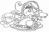 Dinner Drawing Turkey Coloring Thanksgiving Feast Pages Getdrawings sketch template