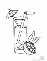 Martini Coloring Pages Cocktail Template sketch template